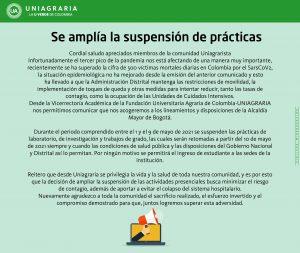 Suspensión de prácticas