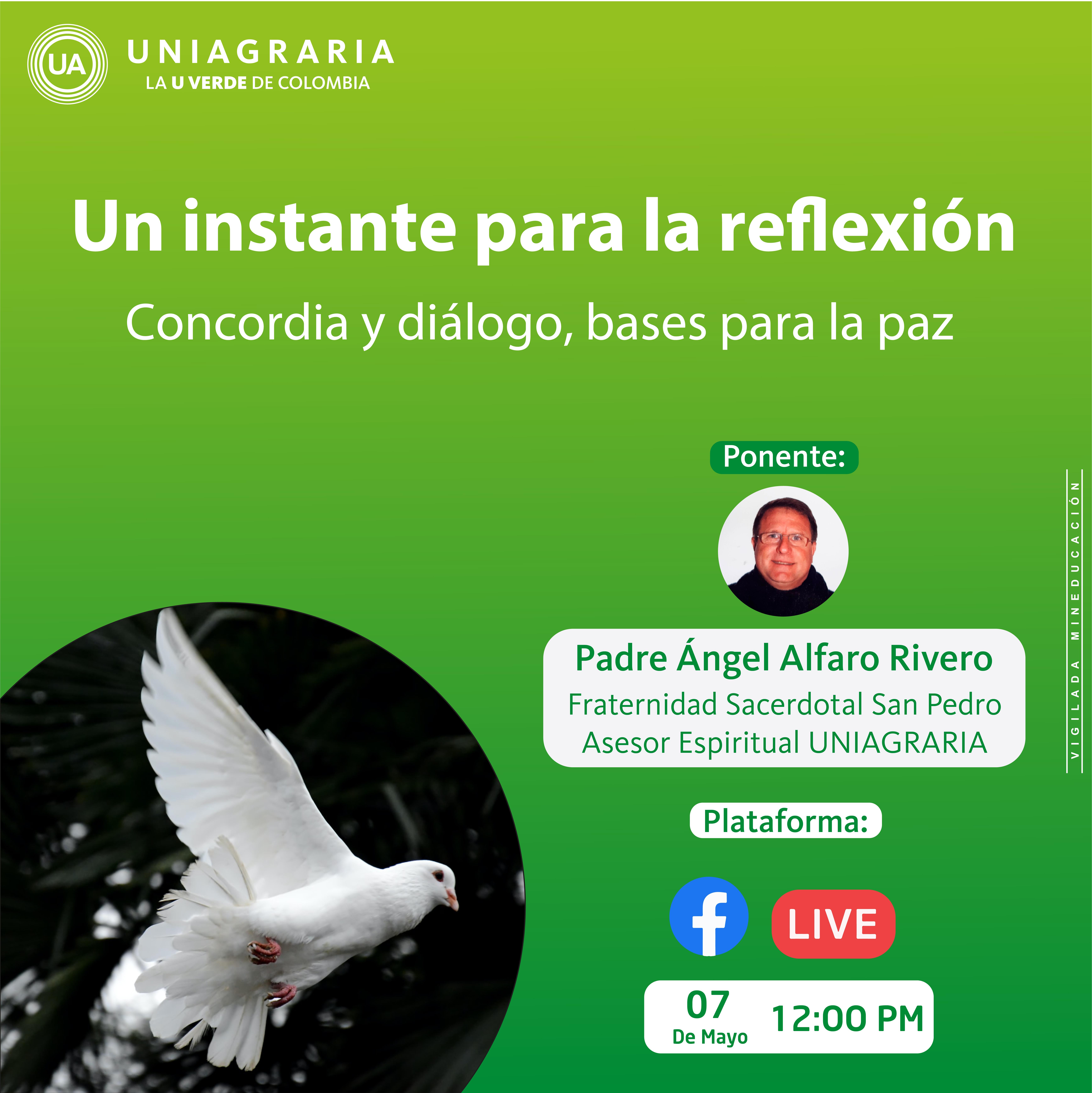 Un instante para la reflexión: Concordia y dialogo, base para la paz