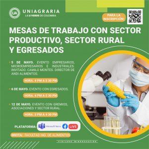 Mesas de trabajo con sector productivo, sector rural y egresados