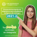 Inscripción de asignaturas 2021-2