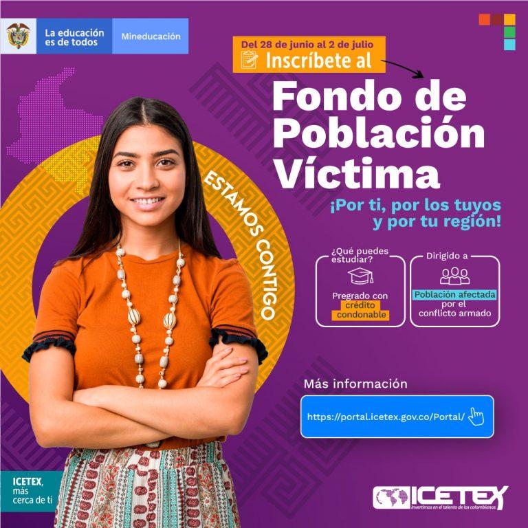 Inscríbete al Fondo de Población Víctima