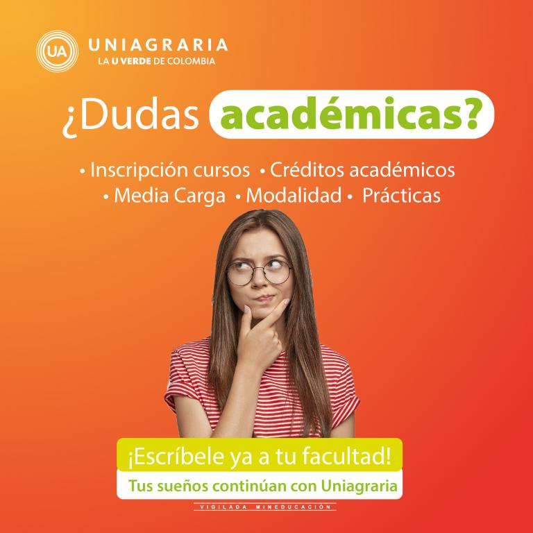 ¿Dudas Académicas?