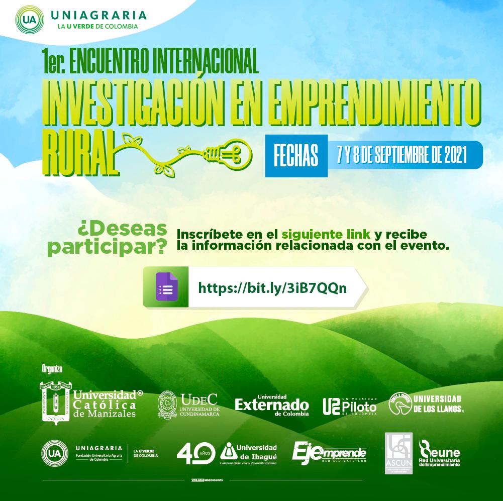1er. Encuentro Internacional de investigación en emprendimiento rural