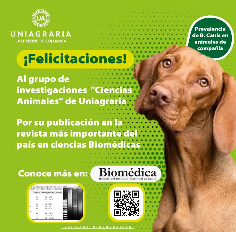 """¡Felicitaciones! Grupo de investigación """"Ciencias Animales"""" de Uniagraria"""