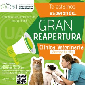 ¡Reapertura Clínica Veterinaria Uniagraria!