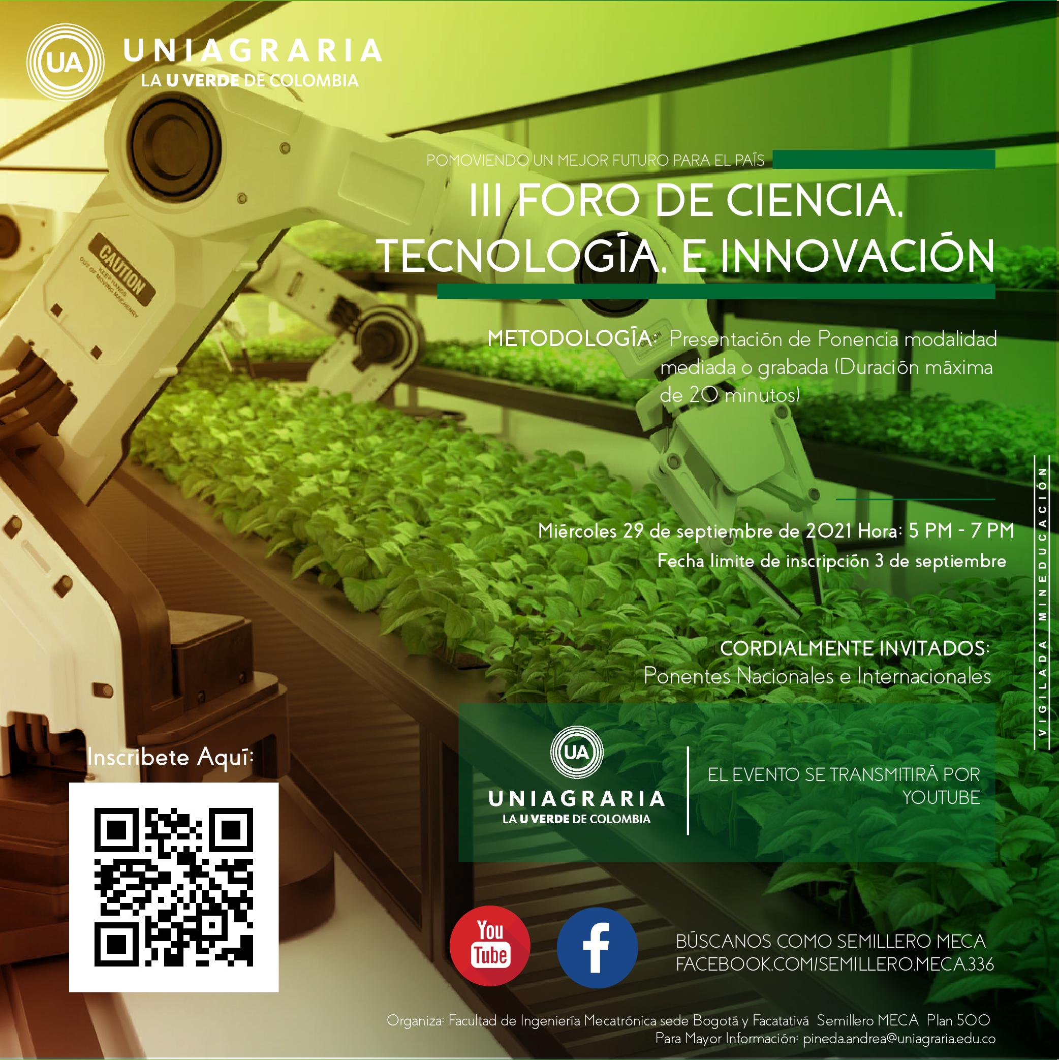 III Foro de ciencia, tecnología e innovación