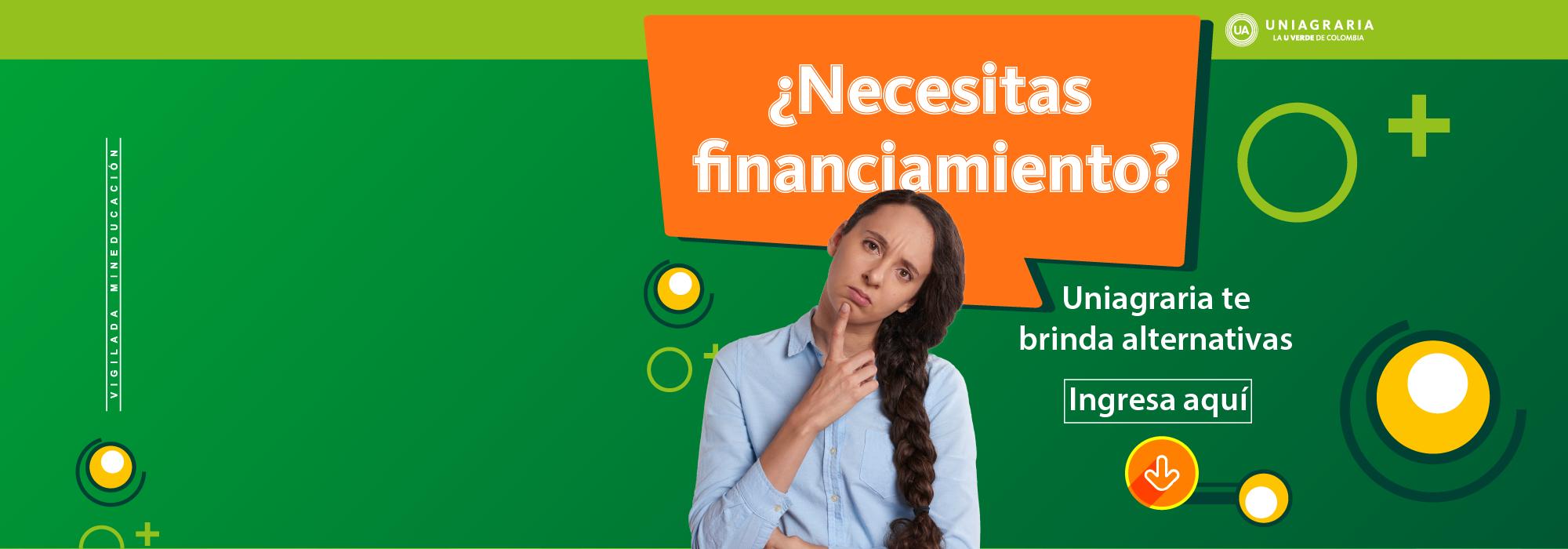 ¿Necesitas financiamiento?