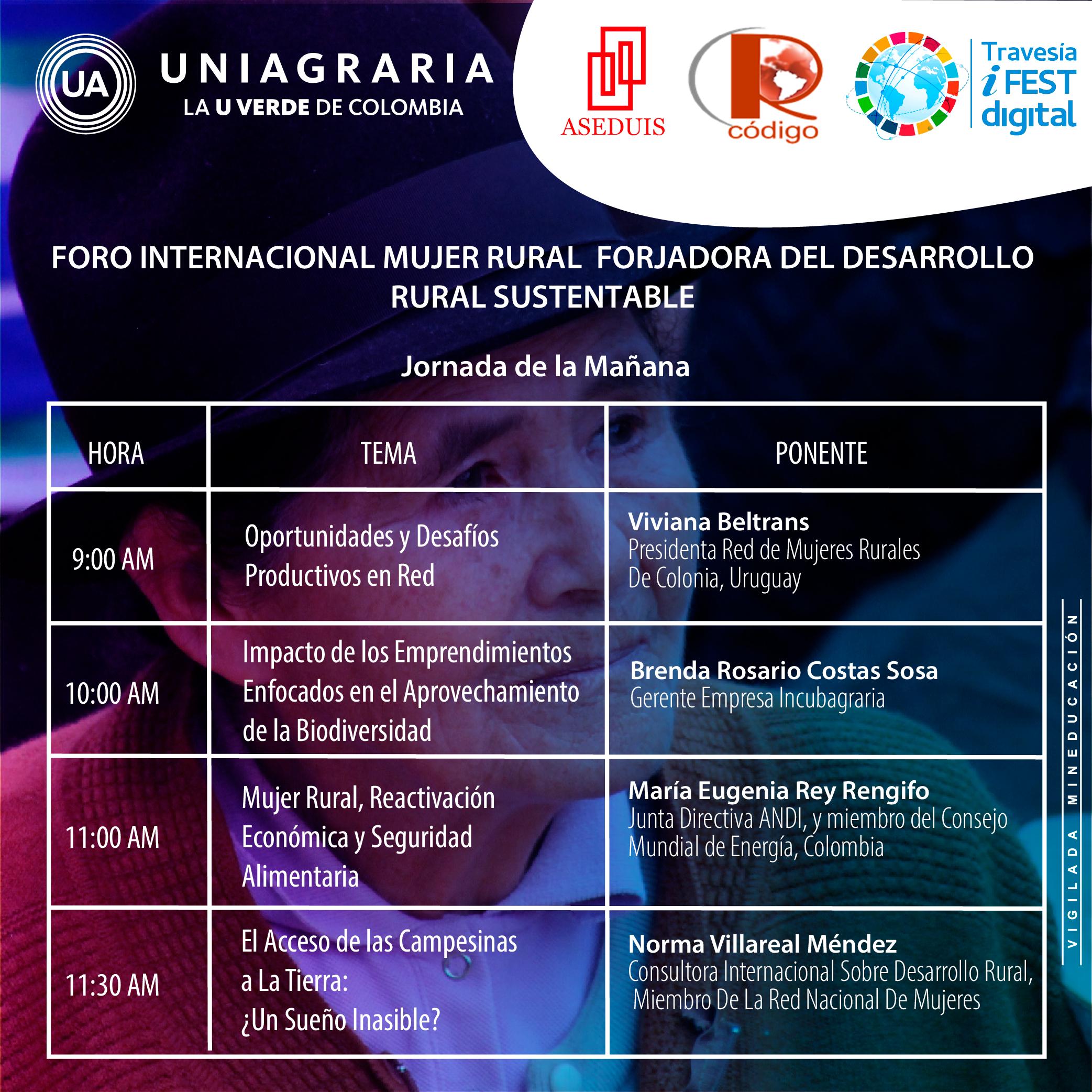 Foro Internacional mujer rural: Forjadora del desarrollo rural sustentable