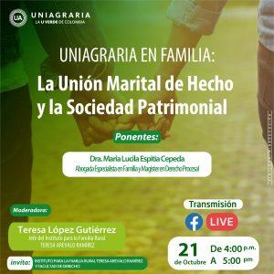 Uniagraria en Familia: La unión marital de hecho y la sociedad patrimonial